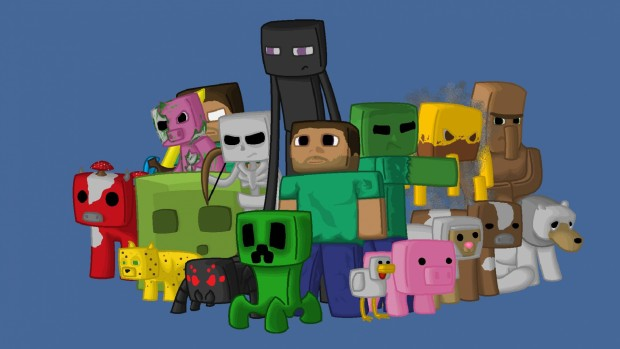 minecraft wallpapers characters